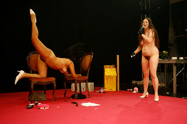Celebrities naked on stage
