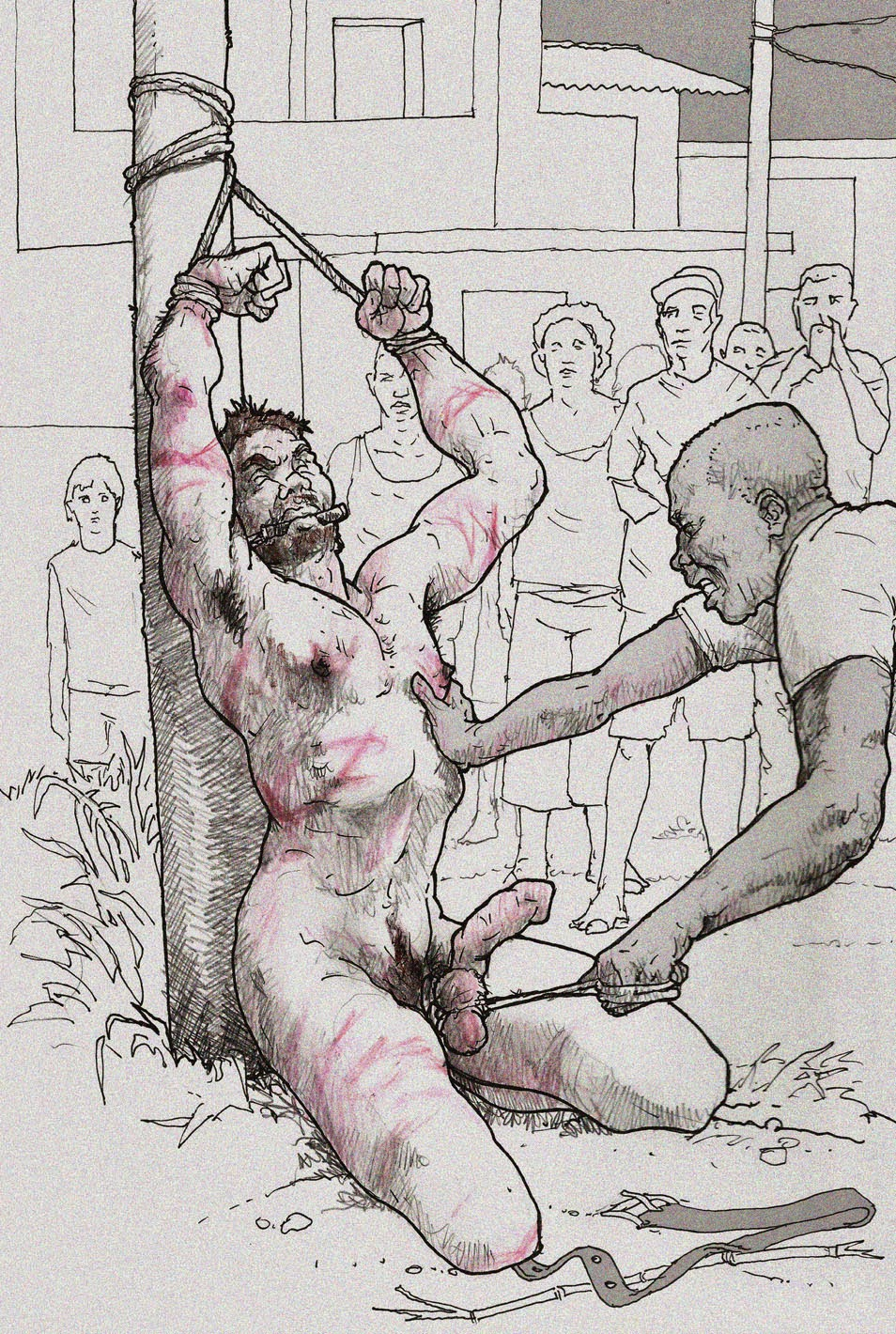 Difficult gay torture cartoon