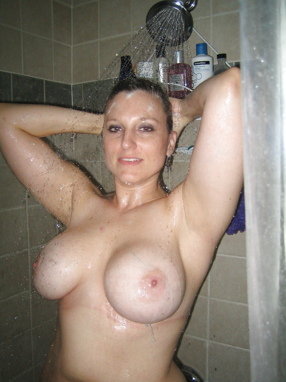 Hot milf fucks young guy in the shower nude scenes